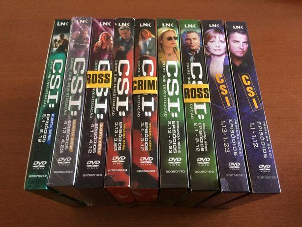 DVDs Série CSI - T1, T2, T3, T4 e T5