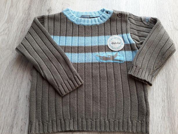 Sweter chłopięcy kolor khaki roz.98 coccodrillo