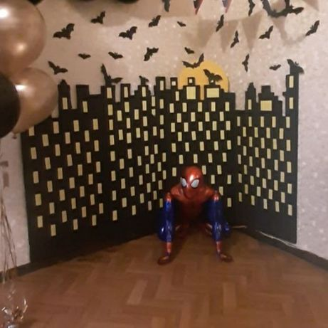 Атрибутика Бэтмен. Фигура шар Бэтмен. Фотозона Бэтмен
