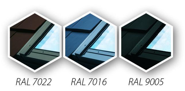 Okno okna dachowe FAKRO FTP-VU4 78x118 z kołnierzem ANTRACYT 7016