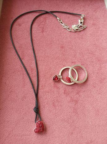 Набор Swarovski (подвеска и кольцо)