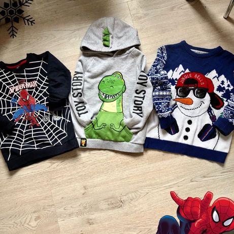 Кофта spiderman кофта динозавр 7-8 лет свитер новогодний 9лет