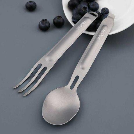 Набор титановая вилка + ложка Xiaomi NexTool Outdoor Spoon Fork