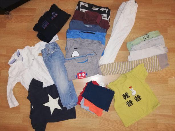 Spodnie bluza koszula i inne 86/92