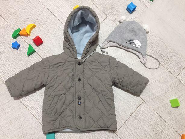 Куртка деми весна осень стеганная на мальчика 6-12мес