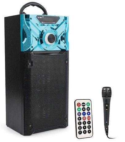 GŁOŚNIK bluetooth KOLUMNA KARAOKE 100W + mikrofon