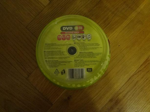 Płyty DVD +R 4,7GB,8x 10 sztuk zapakowane