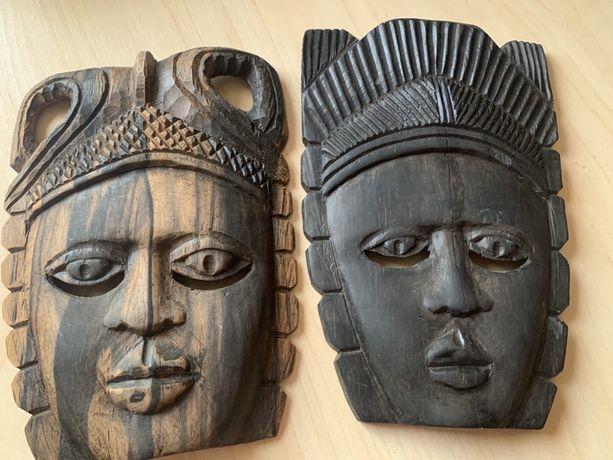 Маска африка Кения декор черное дерево