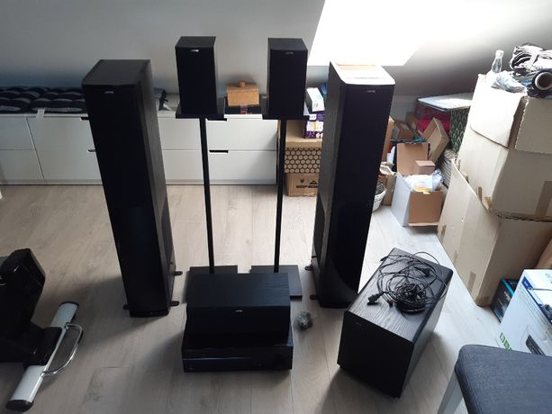 Kino domowe 5.1, zestaw hi-fi - Yamaha RX-V473 +Jamo S606