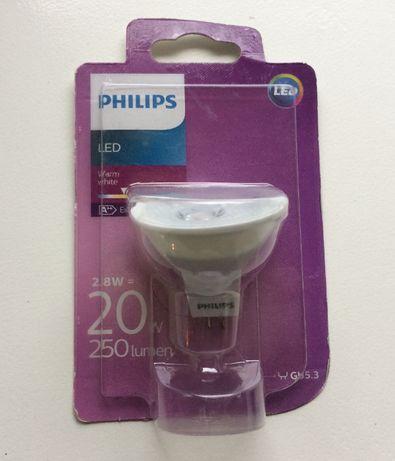 Żarówka Philips GU5.3 MR16 LED 2.8W(20W, 250lumen) 2700k ciepła biała