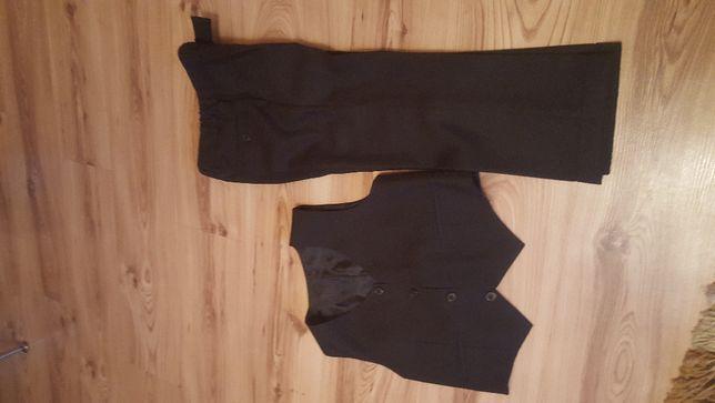 Spodnie garniturowe z kamozelką r. 116