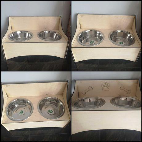 Stojak na miski dla psów + 2 miski są w cenie