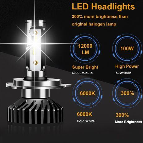 Uttril Led Лампы Н4 // 12000lm/6000k // 100 ватт // ZES