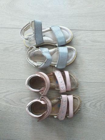 Босоножки голубые для девочки р.26 16см, розовые вподарок р.25 15 см