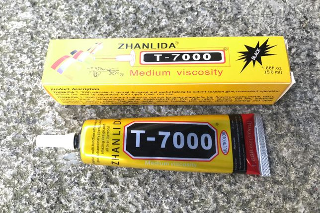 Cola T-7000 / Cola para reparações de smartphone / Ecrãs / LCD (50ml)