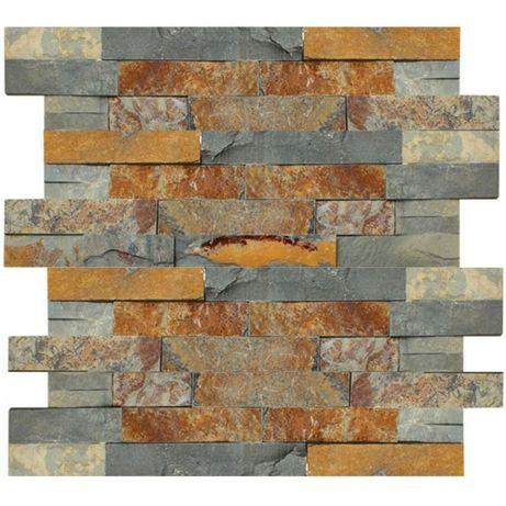 Kamień elewacyjny naturalny łupek Stackstone Multicolor 10x36