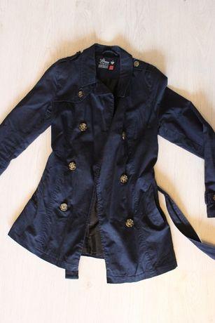 Granatowy, wiosenno-jesienny płaszcz House, rozmiar S