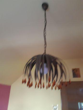 Żyrandol pojedyńczy  z lampami nocnymi