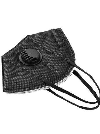 Строительная черная маска с клапаном респиратор с угольным фильтром