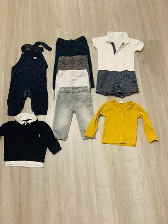 Zestaw ubrań dla chłopca rozm. 68,74,80 plus nowe buty