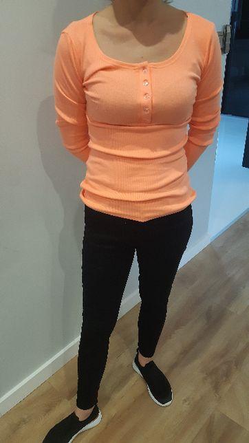 Nowa bluzka prążek neonowy pomarańcz roz.S/M