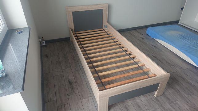 Łóżko jednoosobowe dąb sonoma