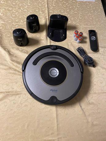 Roomba Irobot 616, Paredes virtuais e comando, com caixa e Factura