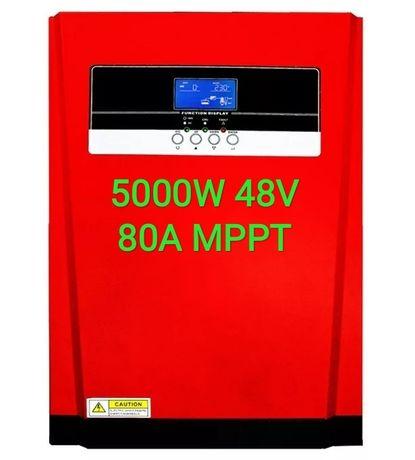 Inversor Híbrido sem baterias 5000W 48V 80A MPPT WiFi