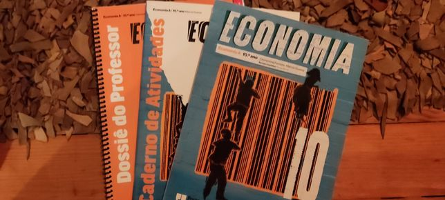 Manual escolar e dossier do prof. de Economia 10 ano, Porto Editora