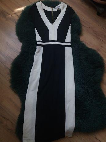 Czarno biała sukienka H&M