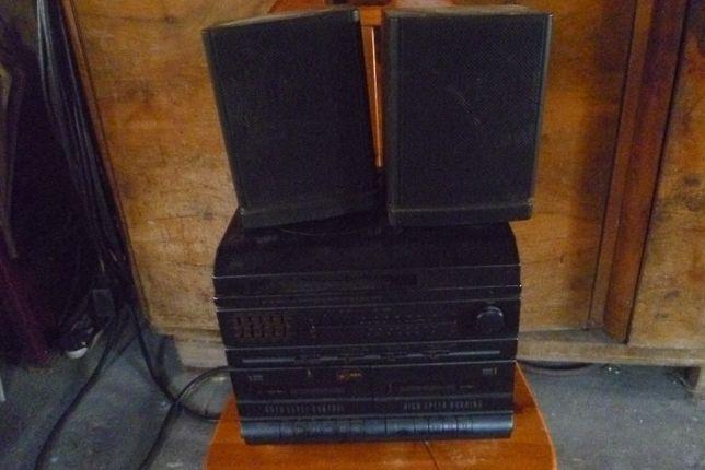 wieża Aba gramofon+radio+kaseciak+głośniki
