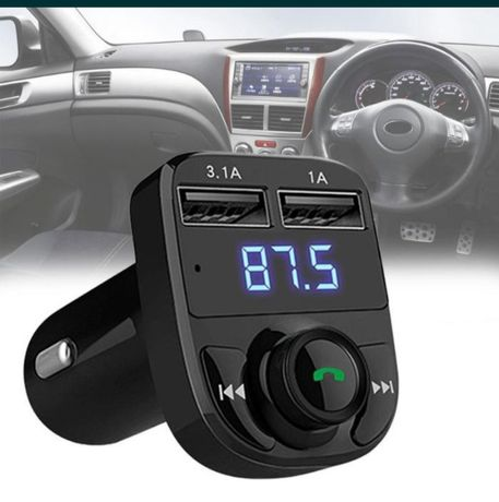 Фм модулятор трансмиттер Car x8 с блютузом игра