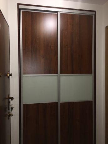 Drzwi przesuwne do szafy/garderoby szyba mleczna/fornir 120x235