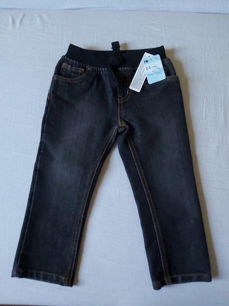 Nowe Czarne jeansy chlopiece rozm 98 2-3 lata