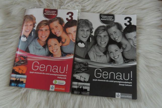 Genau 3 język Niemecki - podręcznik i ćwiczenia NOWE