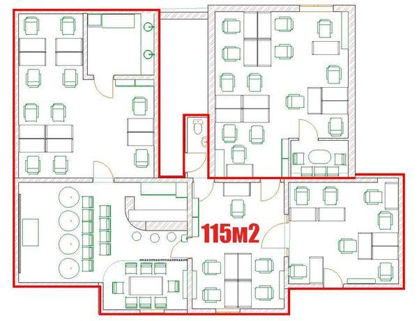 Оренда приміщення 115м2