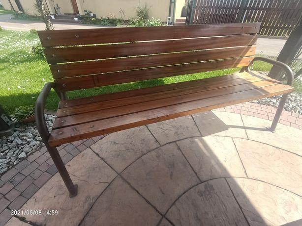 Ławki ogrodowe metalowo-drewniane