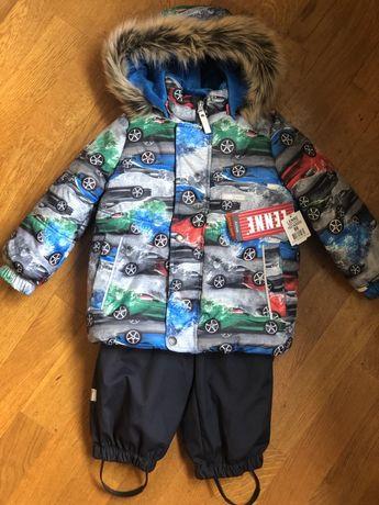Зимний Комплект, куртка, комбинезон Lenne  длямальчика ROBY синий, 86р