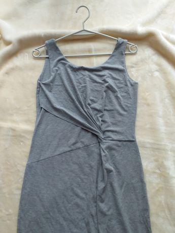 Szara, bawełniana sukienka