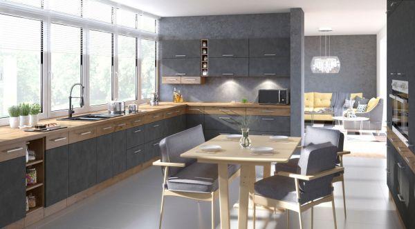 Nowe nowoczesne Meble kuchenne Kuchnia wymiar VIVA SZARY SYSTEMOWA