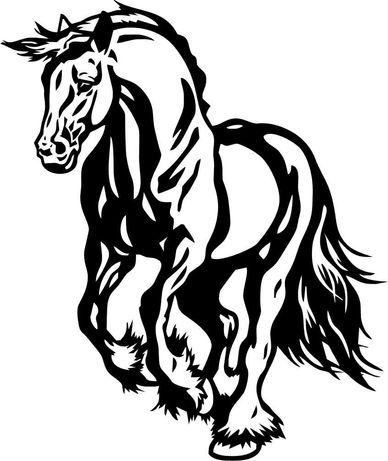 Naklejka Koń w galopie , klacz żrebak