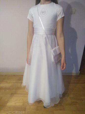 Sukienka komunijna+wianek