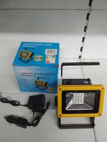 Ручной фонарь прожектор BL-204,Т801 30W на 3х аккумуляторах с мигалкой