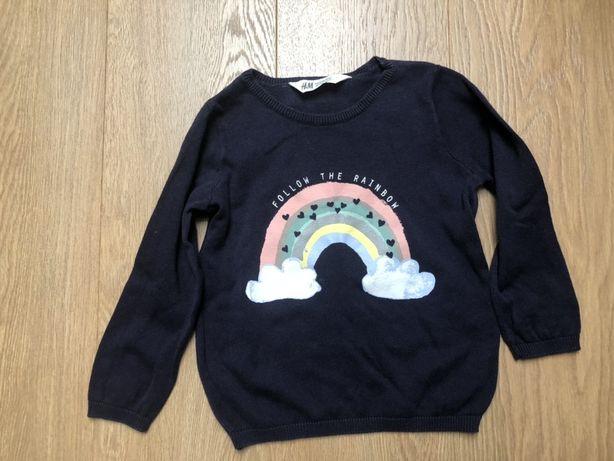 Sweterek tęcza r. 98/110 H&M