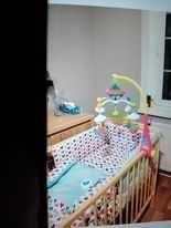 Łóżeczko dziecięce z akcesoriami