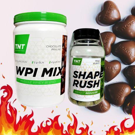 Худеем Нежно! Без диет сверхмощный Shape Rush + WPI MIX изолят шоколад