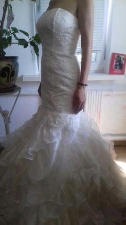 Свадебное платье Рыбка + свадебные аксессуары