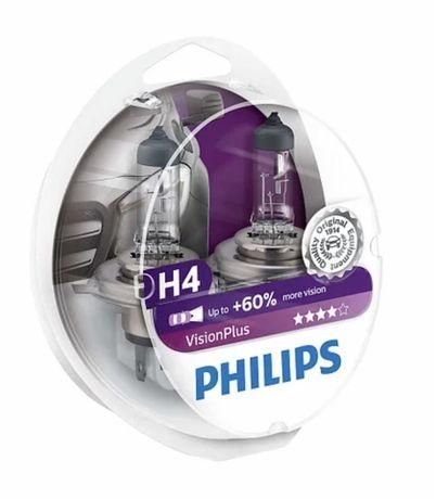 Philips vision plus +60%, H4, H1, H7.