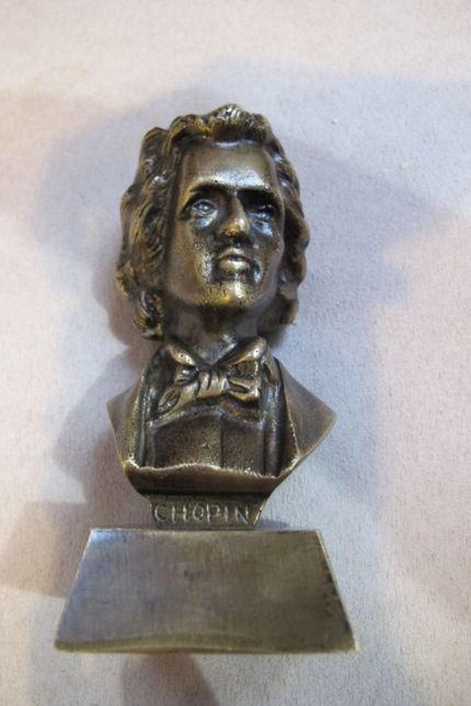Chopin popiersie mosiądz