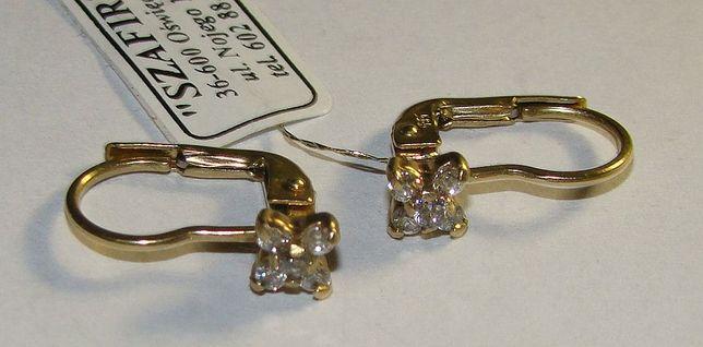 TANIO !! Złote kolczyki próby 585 14 karat -Firma Szafir- Wzór 440